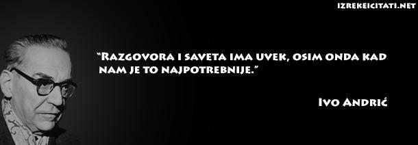 Citati O Zenama >> Ivo Andrić - Citati u slikama - Izreke i Citati