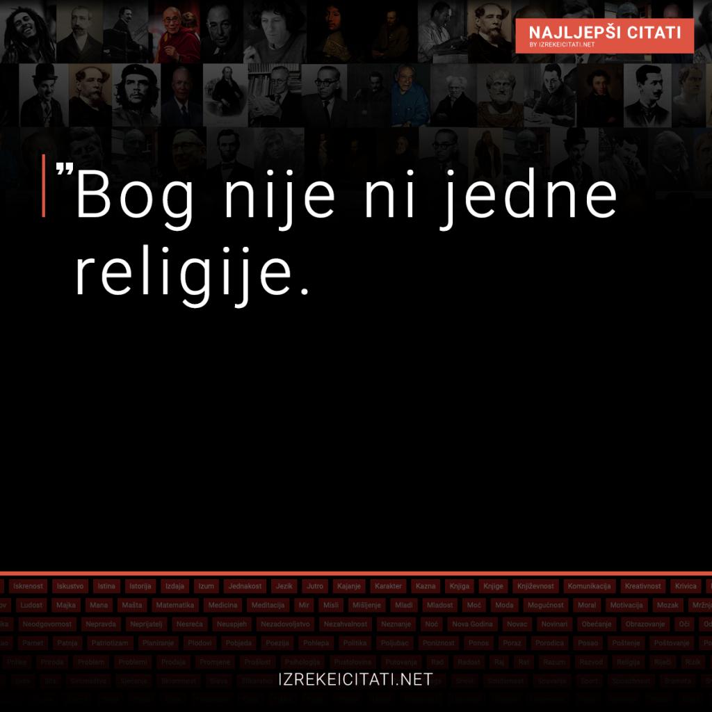 Bog nije ni jedne religije